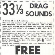 Drag Sounds Ad - Rudy's Records